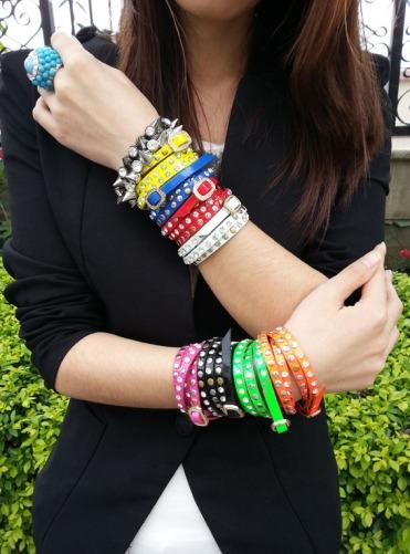 punk style stud wrap bracelets